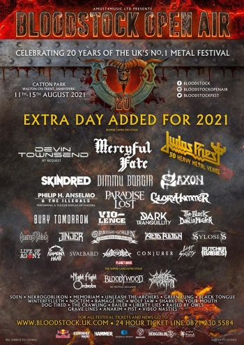 BLOODSTOCK Announce Headliners/Special Guests 2021 (Festival News)