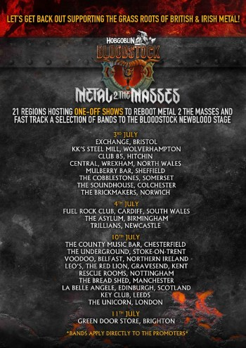 Bloodstock M2TM Dates And Venues!