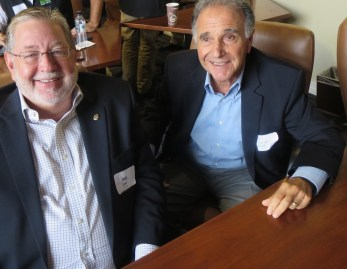 L-R: Joe Priddy (Santa Maria Country Club) and CGCOA Director Bill Aragona (Boulder Creek Golf & Country Club) attending the CGCOA Northern California Educational Conference at Poppy Hills.