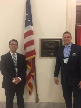 Frank Cordero of Diablo Country Club and CGCOA Executive Director Marc Connerly represent the California golf industry at National Golf Day in Washington, D.C.