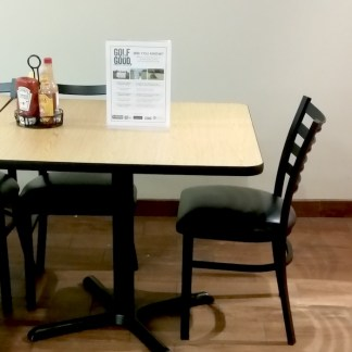 Arcadia Golf Course is getting in the Golf is Good spirit by placing a display on EACH of their dining area tables! Thank you to Arcadia Golf Course for helping to spread the word that Golf is Good.