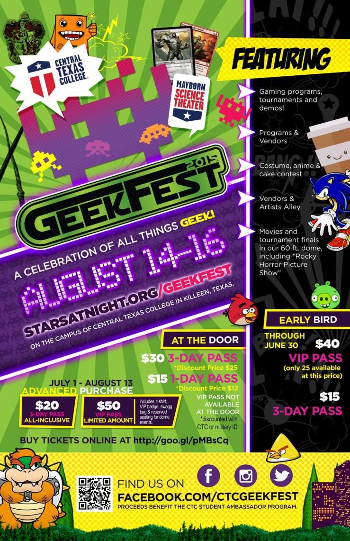 CTC Geekfest 2015 Flyer
