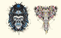 YOAZ: Graphic Animal Illustrations
