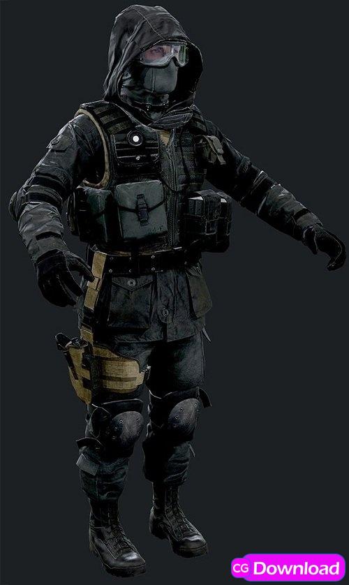 Download SAS CT Assault 3d Model Free