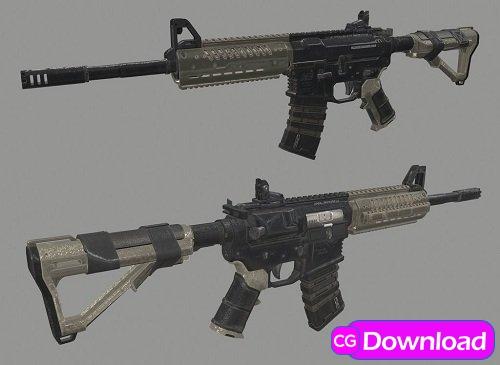 Download NV4 Flatline Assault Rifle Epic 3D Model Free