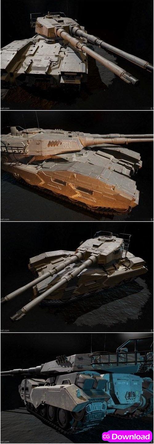 Download EFGF M61A5 Main Battle Tank 3D Model Free