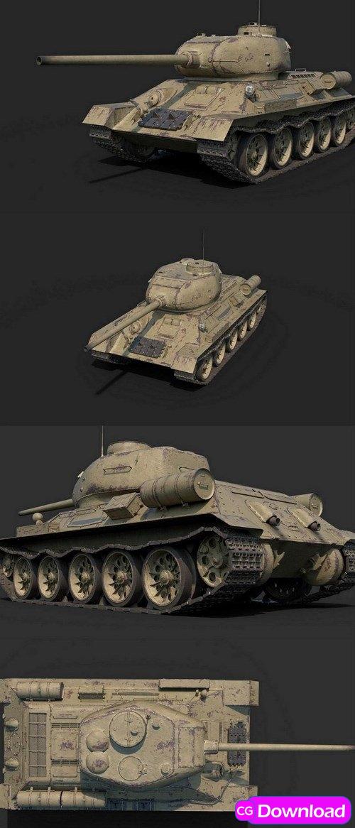 Download WW2 SOVIET TANK T-34-85 – 3D MODEL Free