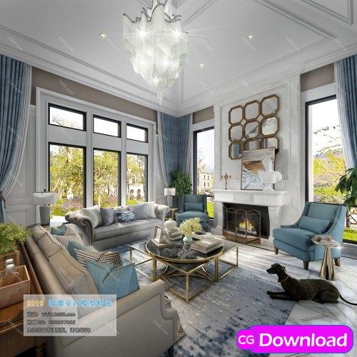 Download  American Modern Style Livingroom 337 (2019) Free
