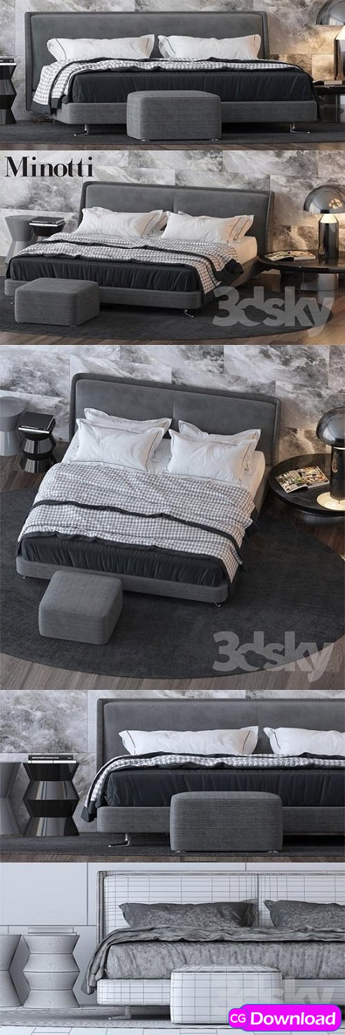 Download  Bed by Minotti Free