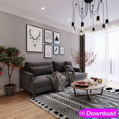 Download  Livingroom Scene By Minh Tu Free
