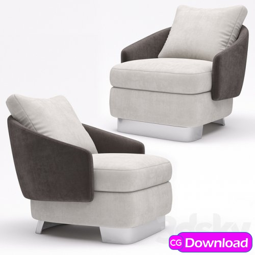 Download  Minotti Lawson Medium Armchair Free