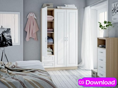 Download  Modern wardrobe 09 Free