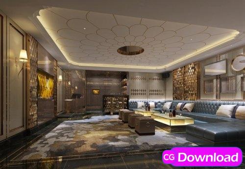 Download  Modern hotel ktv private room Free