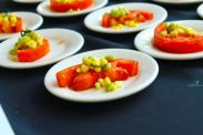 Hot & Hot Tomato Salad, Sweet Corn, Field Peas