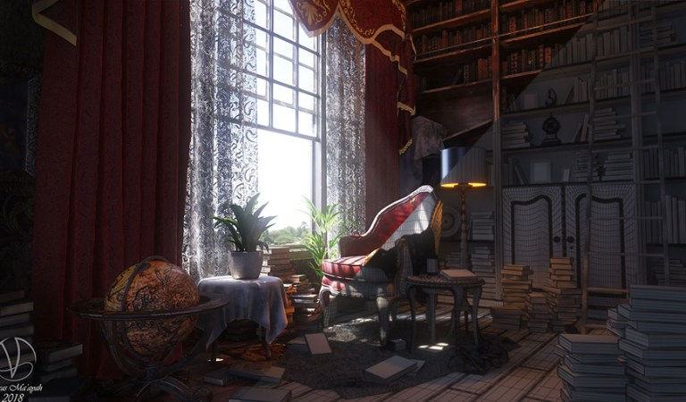 Create a historical interior with 3ds Max & Substance Painter