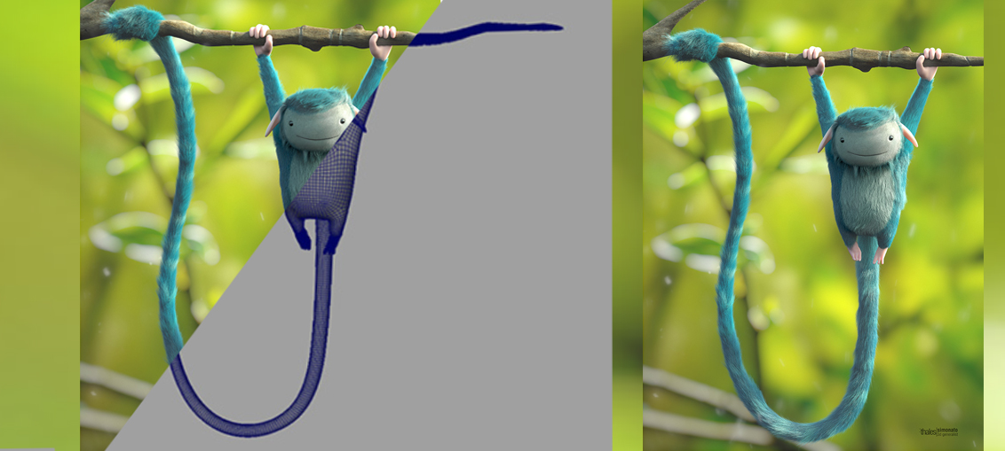 The making of 'The Blue Monkey' in Zbrush