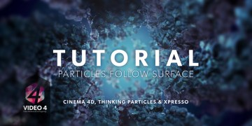 Particles Follow Surface - CINEMA 4D TUTORIAL