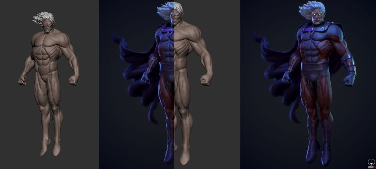 Magneto fanart in ZBrush and Substance Painter