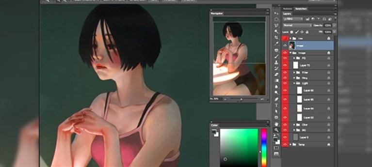 Paint emotive scenes in Photoshop