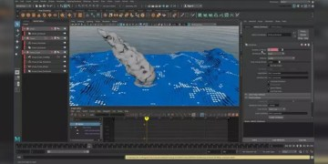 Creating MASH Effects: Blocky Ocean in Maya