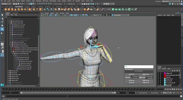 Creating a Character Rig: Appendix D – Freezing IK Controls in Maya