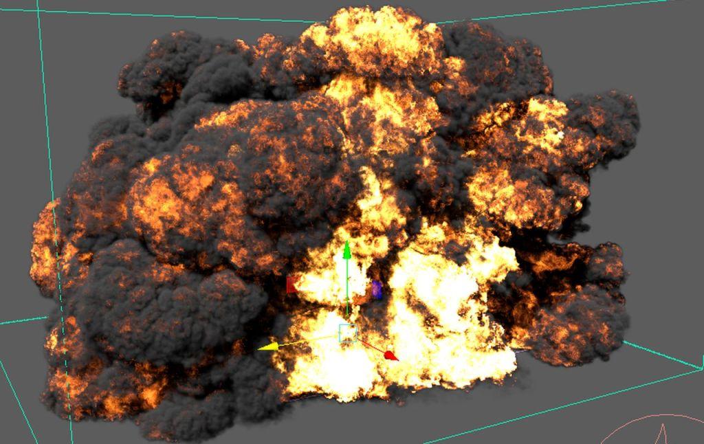 Gasoline Explosion using Phoenix FD for Maya