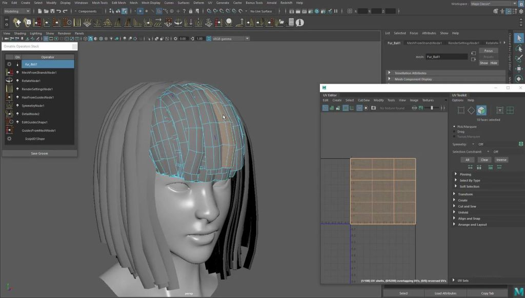 Modeling and UVs Hair for Games