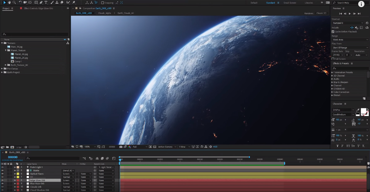 Ultra 3D Earth Tutorial! + Free ORB Plug-in! 100% After Effects! | CGHOW