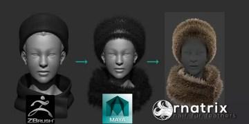 ZBrush Fibermesh to Maya Ornatrix Hair