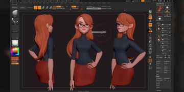 Zbrush 4r8 – Hair With the Bend Curve 3d Gizmo