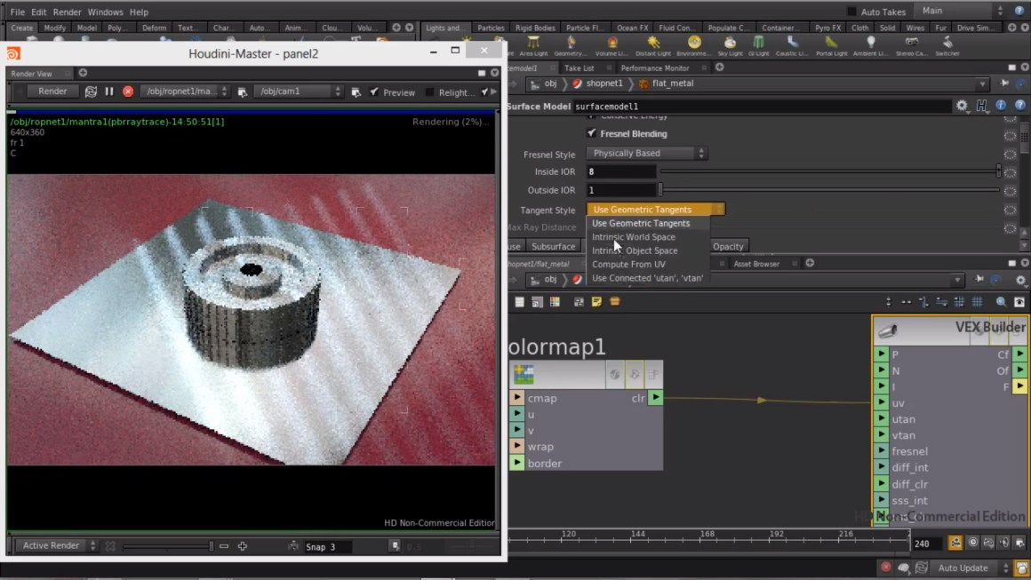Creating Anisotropic metal shader in Houdini by Rohan Dalvi