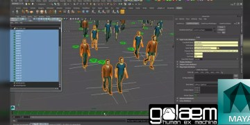 Drive Maya Objects with Golaem