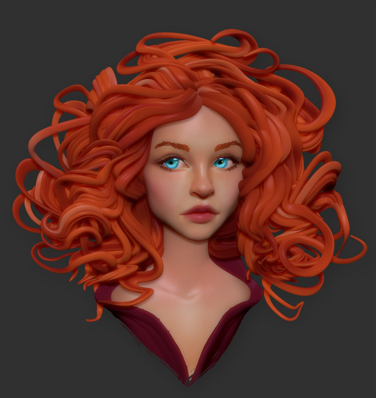 Fiery hair by Olya Anufrieva