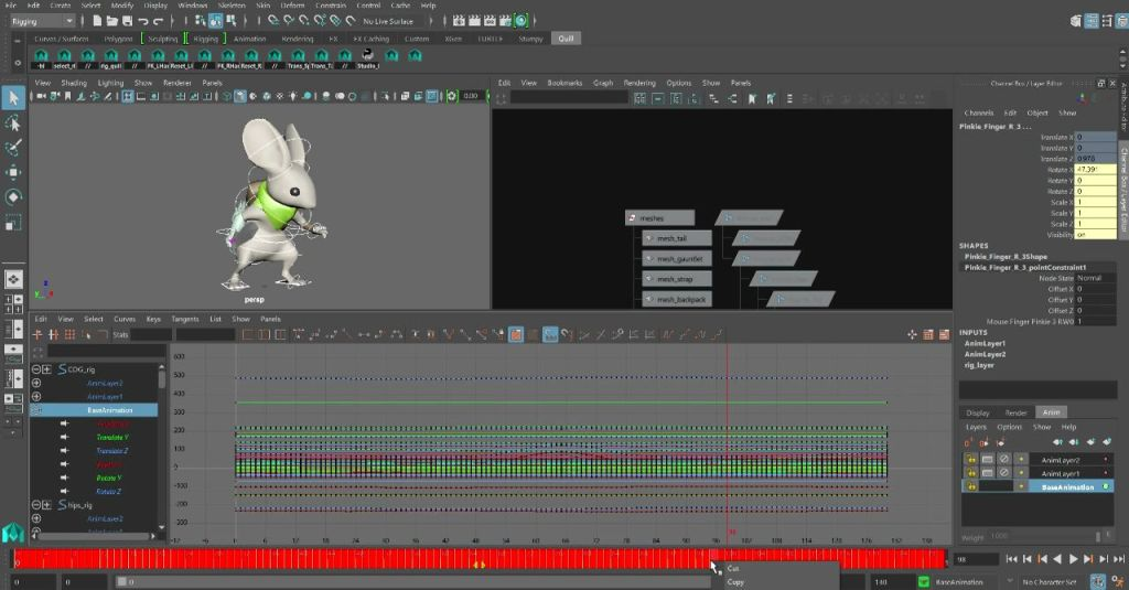 How to use Additive and Subtractive Motion Layers in Maya