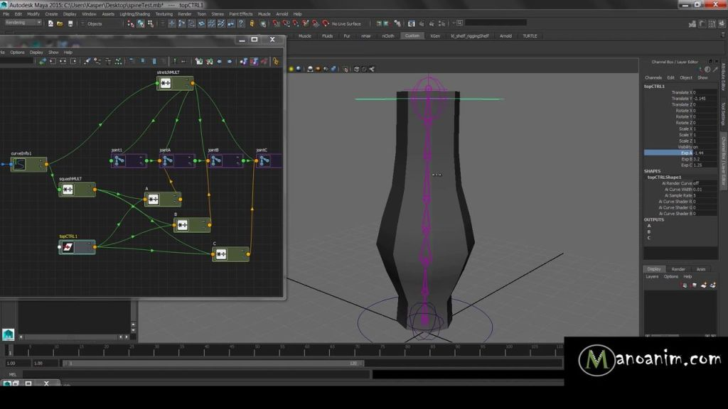 Maya Tutorial Squash and Stretch Math Rigging Done The Right Way