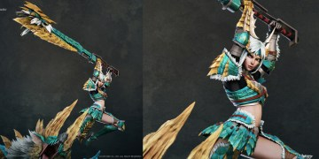 Zinogre Diorama Statue - Female Hunter by Wandah Kurniawan
