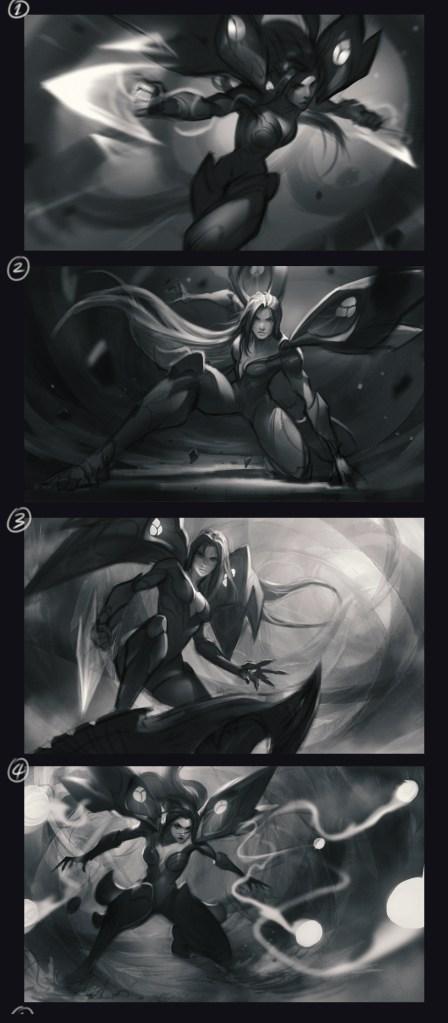Kai'sa Splash art for the league of Legend by Chengwei Pan