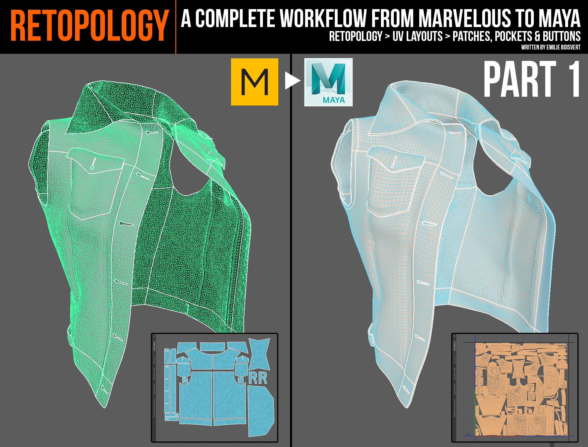 Marvelous Designer To Maya Retopology Workflow Part 1 5 Cghow