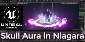 Unreal Engine Skull Aura Niagara Tutorial