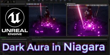 Unreal Engine Dark Aura in Niagara
