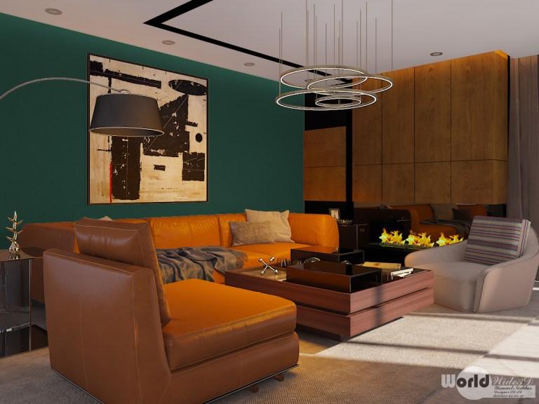 dark #green #living #room   CGHOW