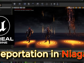 Unreal Engine Teleportation effect in Niagara Tutorial
