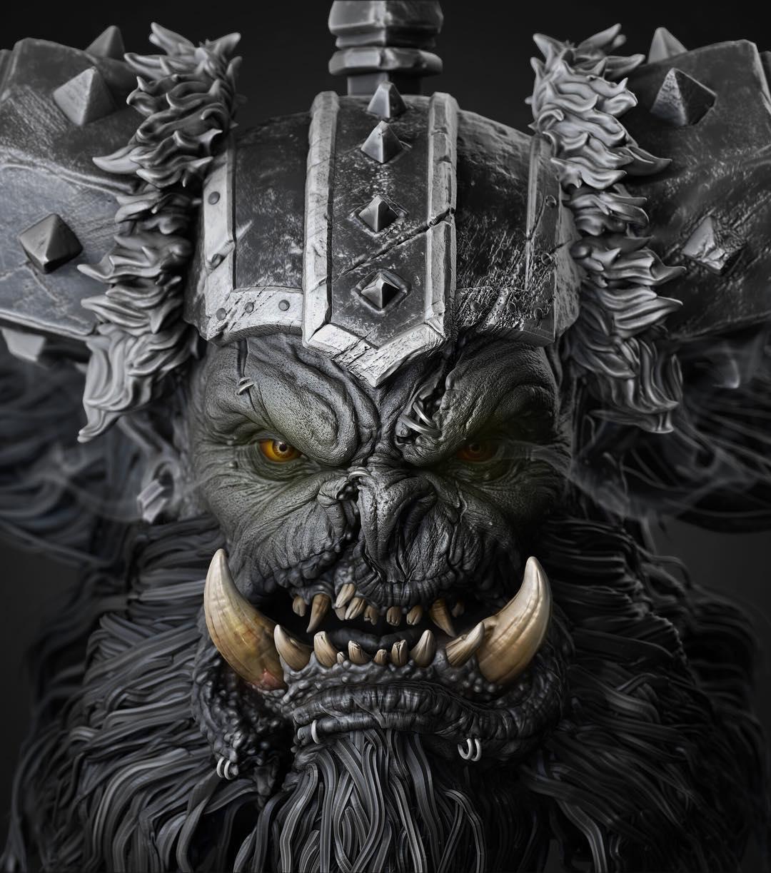 Fan Art Of Warcraft Orc By Gaurav Kumar Cghow