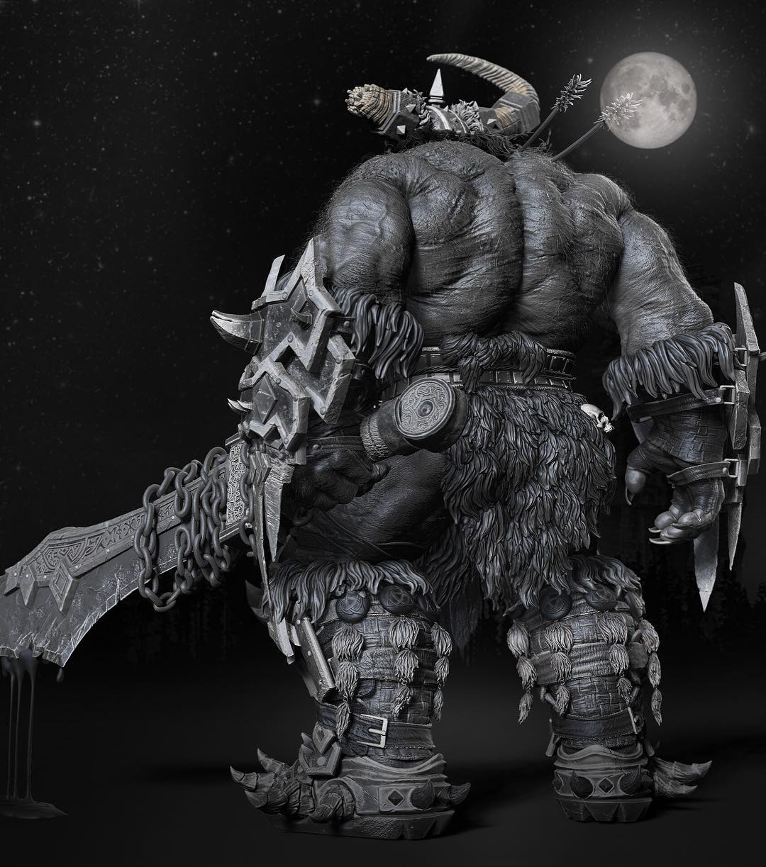 Fan Art Of Warcraft Orc By Gaurav Kumar Cghow