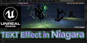Unreal Engine Text Effect in Niagara Tutorial