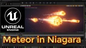 Unreal Engine Meteor in Niagara Tutorial