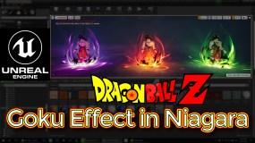 Unreal Engine DragonBall-Z Goku Effect in Niagara Tutorial