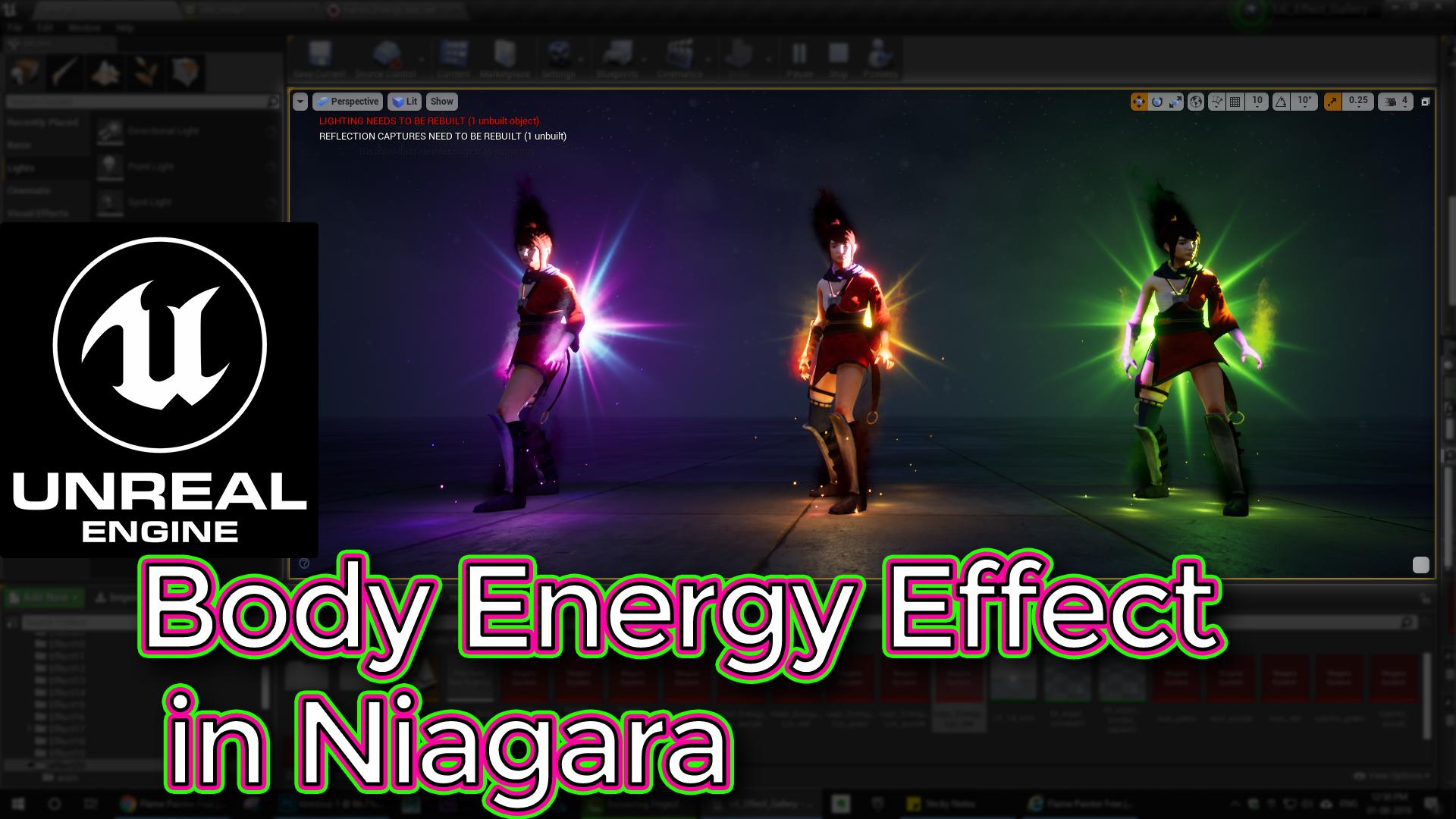 Unreal Engine Body Energy Effect in Niagara Tutorials