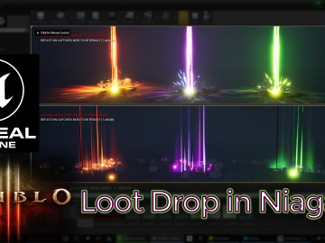 Diablo 3 Loot Drop Effect in UE4 Niagara Tutorial (Requested)