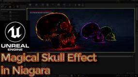 UE4 – Tutorial – Niagara Skull Mesh Particles